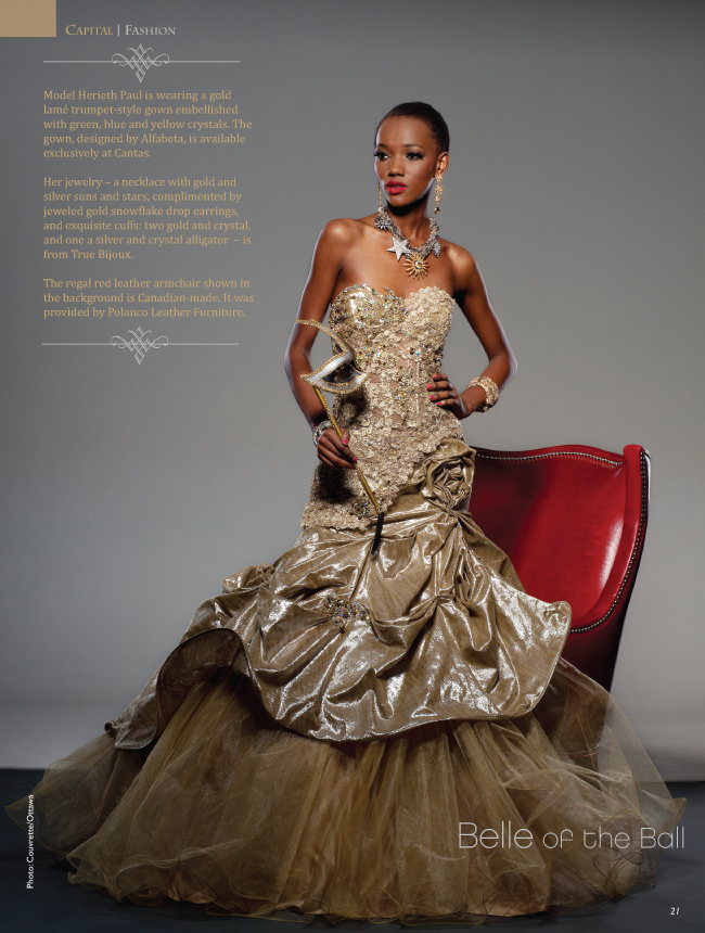 CAPITAL STYLE Herieth Paul Fashion stars as Belle of the Ball